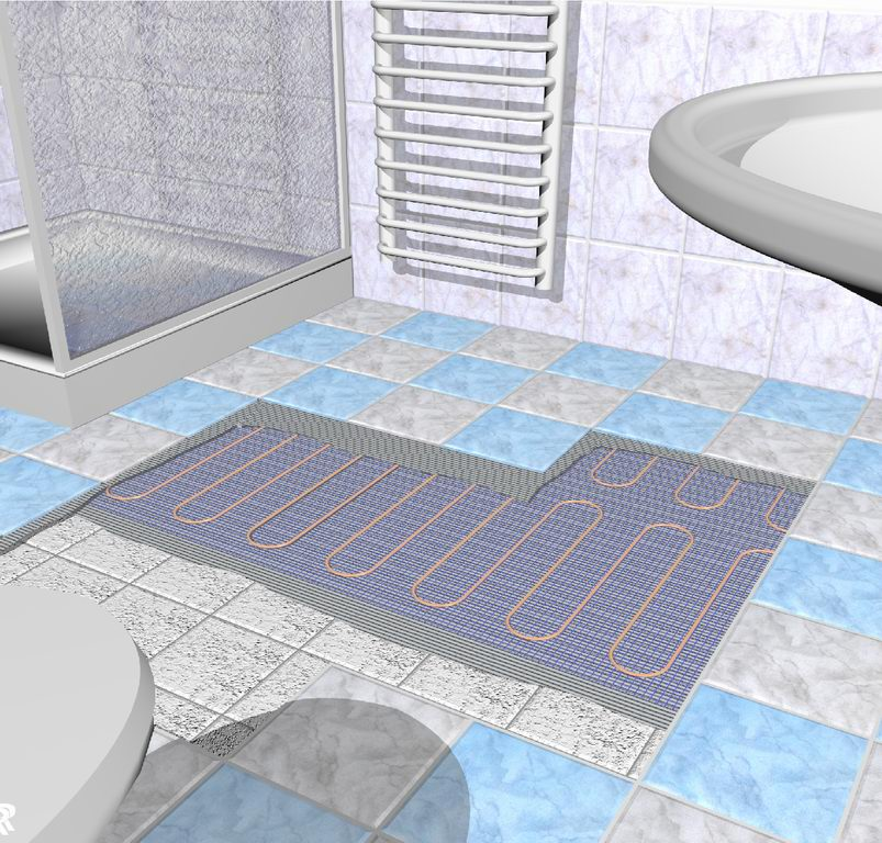Bathroom floor heater